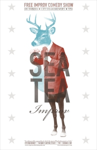 Original Sea Tea Poster Designed by Brian Cook