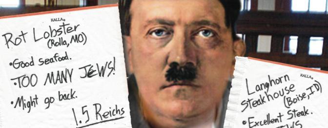 Adolf Hitler: Restaurant Critic