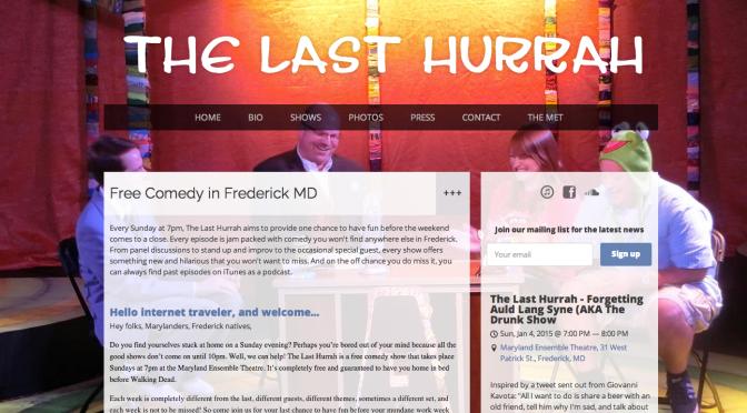 Last Hurrah – New Year New Website
