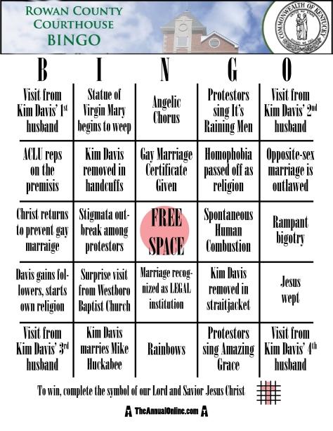 Kim Davis Bingo