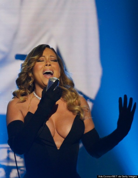WASHINGTON, DC - FEBRUARY 08: Singer-songwriter Mariah Carey performs onstage at BET Honors 2014 at Warner Theatre on February 8, 2014 in Washington, DC. (Photo by Kris Connor/BET/Getty Images for BET)